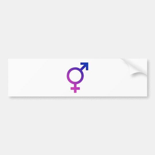 Transgender Hermaphrodite Gender Pride Symbol Bumper Sticker