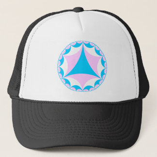 Transgender/intersex colors fractal trucker hat
