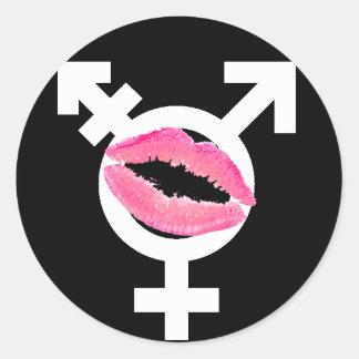 Transgender Love FTM Round Stickers