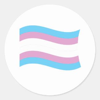 Transgender Pride Banner Round Stickers