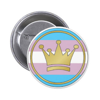 Transgender Pride Crown 6 Cm Round Badge