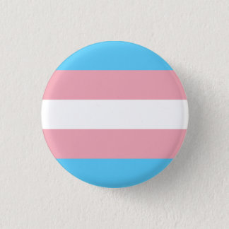 Transgender pride flag 3 cm round badge