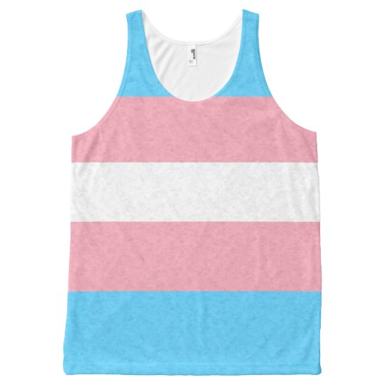 Transgender Pride Flag All-Over Print Tank Top