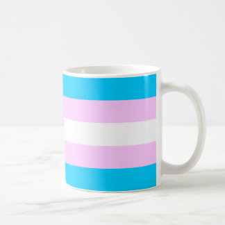 Transgender pride flag basic white mug