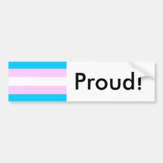 Transgender Pride Flag Bumper Sticker