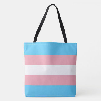 Transgender Pride Flag LGBT All-Over-Print Tote Bag