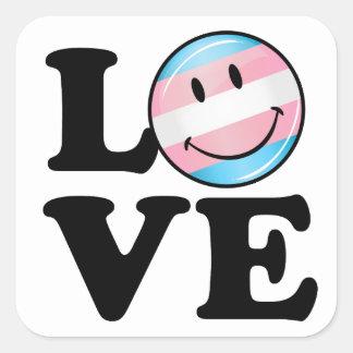 Transgender Pride Flag Love Square Sticker