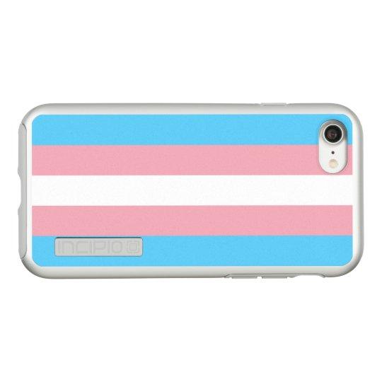 Transgender Pride Flag Silver iPhone Case