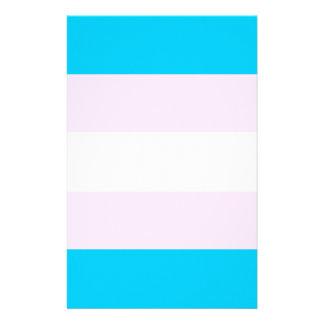 Transgender pride flag stationery paper