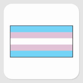 Transgender Pride Flag Square Stickers