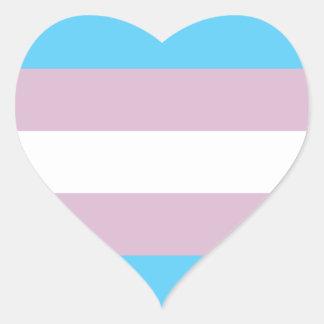 Transgender Pride Flag Stickers (Heart)