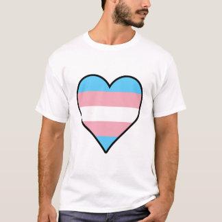 Transgender pride heart T-shirt