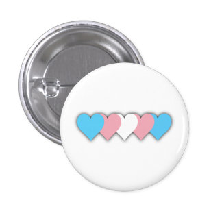Transgender pride hearts button buttons