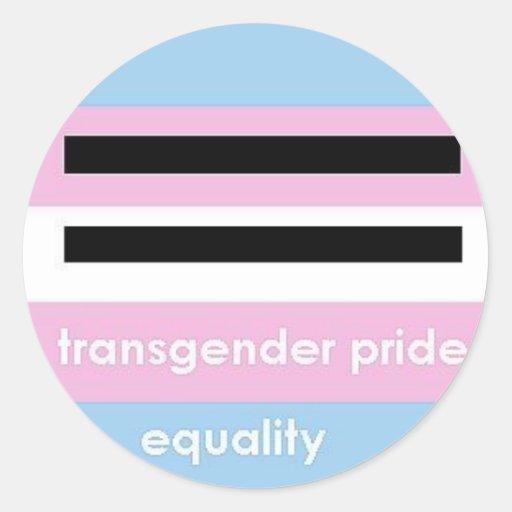 transgender pride round sticker