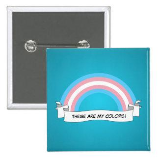 Transgender rainbow pride Button Button