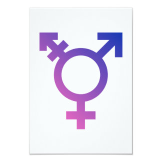 Transgender Symbol Logo Card