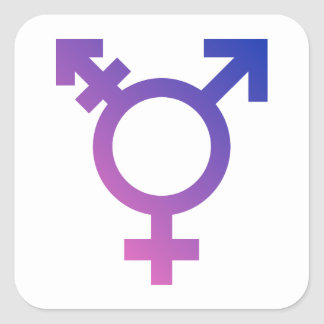 Transgender Symbol Logo Square Stickers