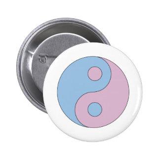 Transgender Yin Yang Symbol 6 Cm Round Badge