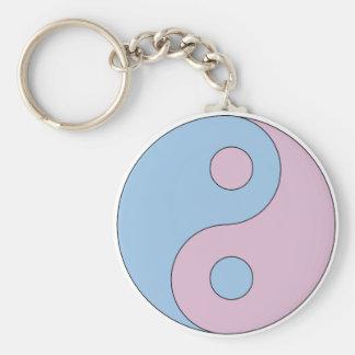 Transgender Yin Yang Symbol Key Ring