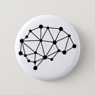 Transhuman Brain - Cyborg Geek 6 Cm Round Badge