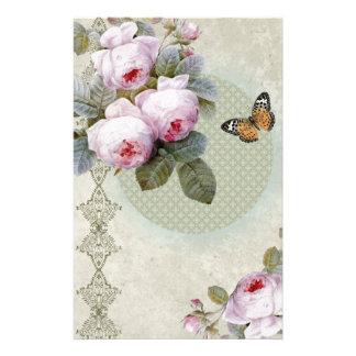 Transient Rose  Vintage inspired design boho chic Stationery
