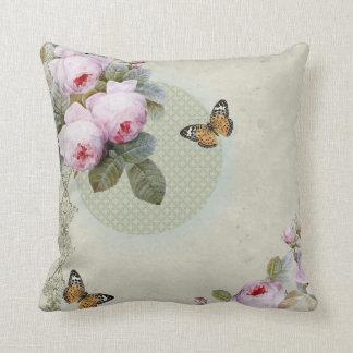Transient Rose - Vintage inspired design cushion