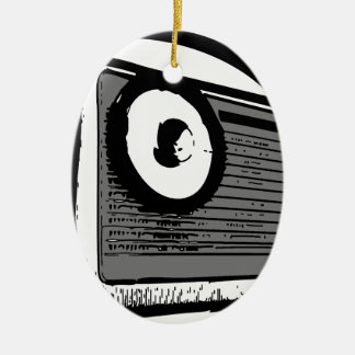 TRANSISTOR RADIO PORTABLE CERAMIC OVAL DECORATION
