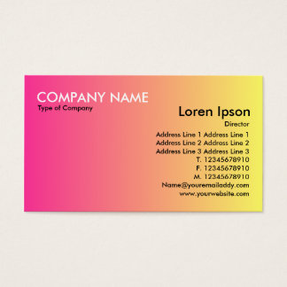Transition - Crimson to Yellow Business Card