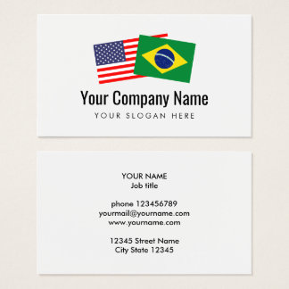 Translation Brazilian Portuguese American English Business Card