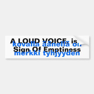 Translation Bumper Stickers Finnish Proverb Yooper