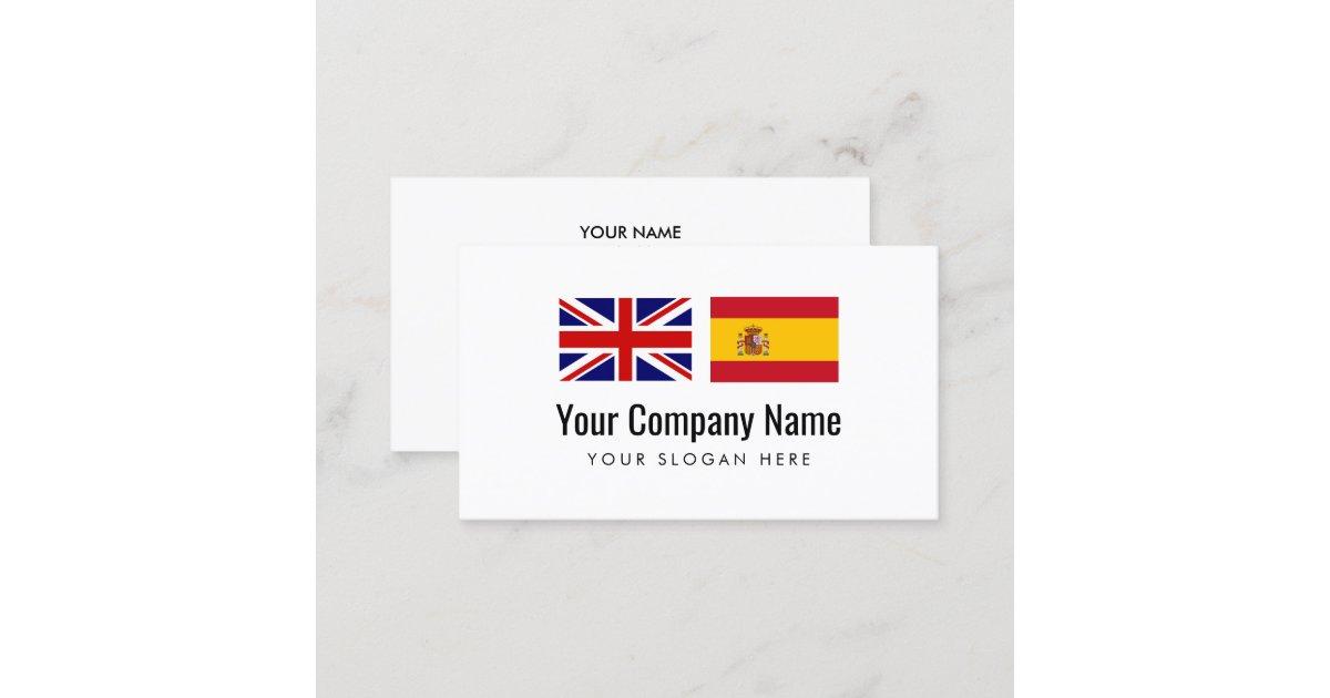 Translation services English Spanish translator Business Card   Zazzle co uk