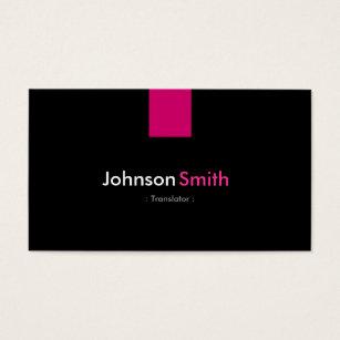 English japanese translation gifts gift ideas zazzle uk translator modern rose pink business card reheart Gallery