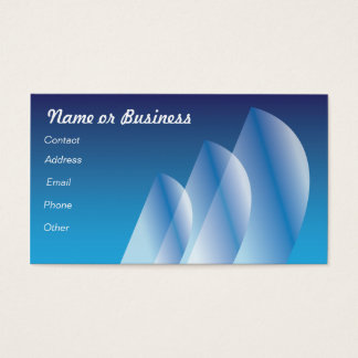 Translucent Tri-Sail Business Card