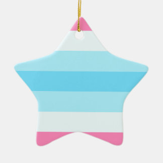 transmasculine flag christmas ornament