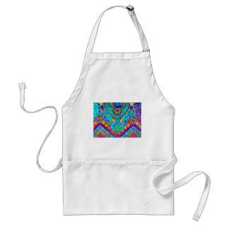 transparant rainbow reverse mosaic standard apron