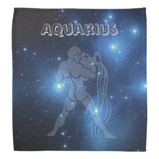 Transparent Aquarius Bandana
