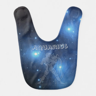 Transparent Aquarius Bib