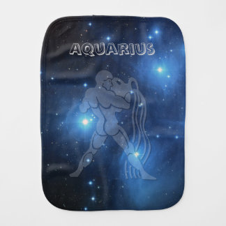 Transparent Aquarius Burp Cloth