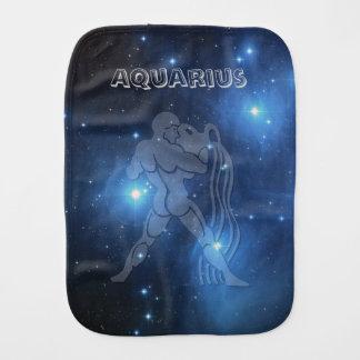 Transparent Aquarius Burp Cloths