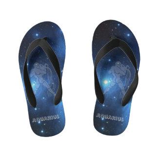 Transparent Aquarius Kid's Flip Flops