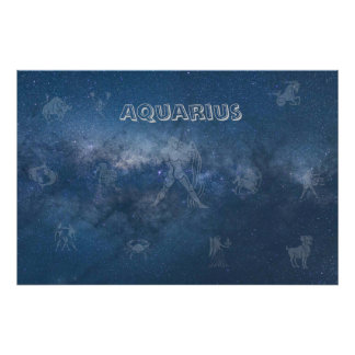 Transparent Aquarius Poster