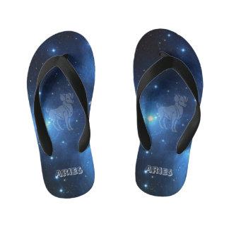 Transparent Aries Kid's Flip Flops