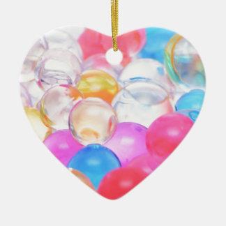 transparent balls ceramic heart decoration