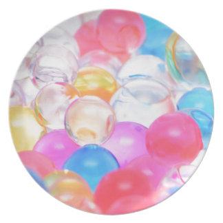 transparent balls plate