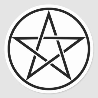 Transparent Black Pentacle Stickers