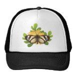 Transparent butterfly trucker hats