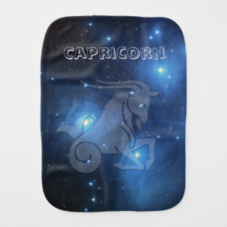 Transparent Capricorn Burp Cloth