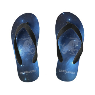 Transparent Capricorn Kid's Flip Flops