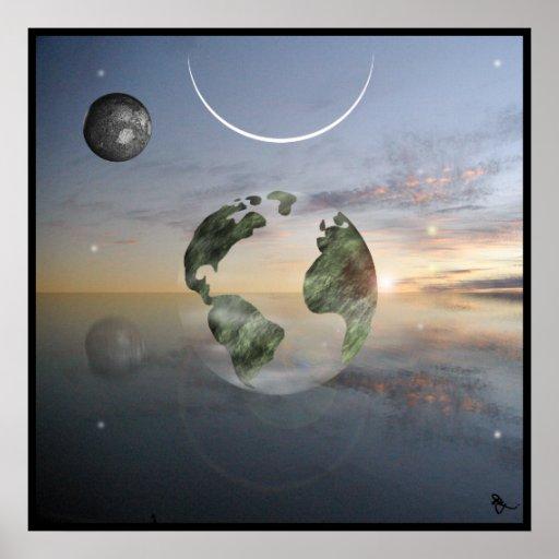 Transparent Earth Print