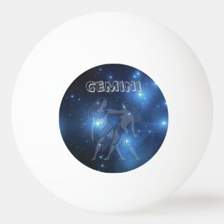 Transparent Gemini Ping Pong Ball
